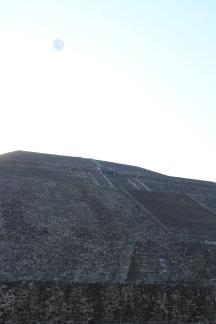 Pyramid of the Sun (note balloon overhead)