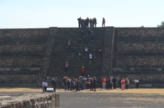 School groups on smaller pyramid