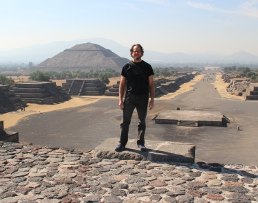 From atop the Pyramid of the Moon