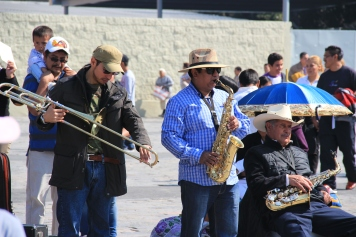 Musicians in the square