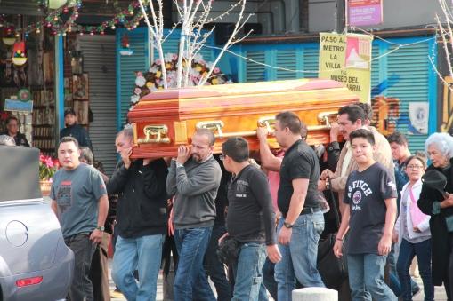 Funeral procession outside Basilica