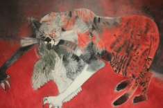 """""""Gato y Pajaro"""" (Cat and Bird) by Aaron Cruz (1985)"""