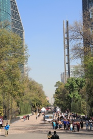 Looking from Chapultepec towards Angel of Independence