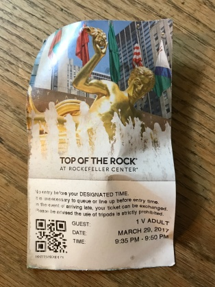 Random ticket to Rockefeller Center